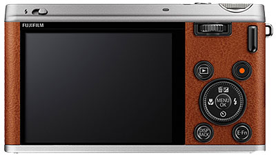 Fuji XF1 - rear view brown model