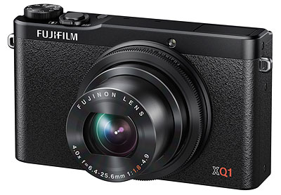 Fuji XQ1 review -- angled front shot