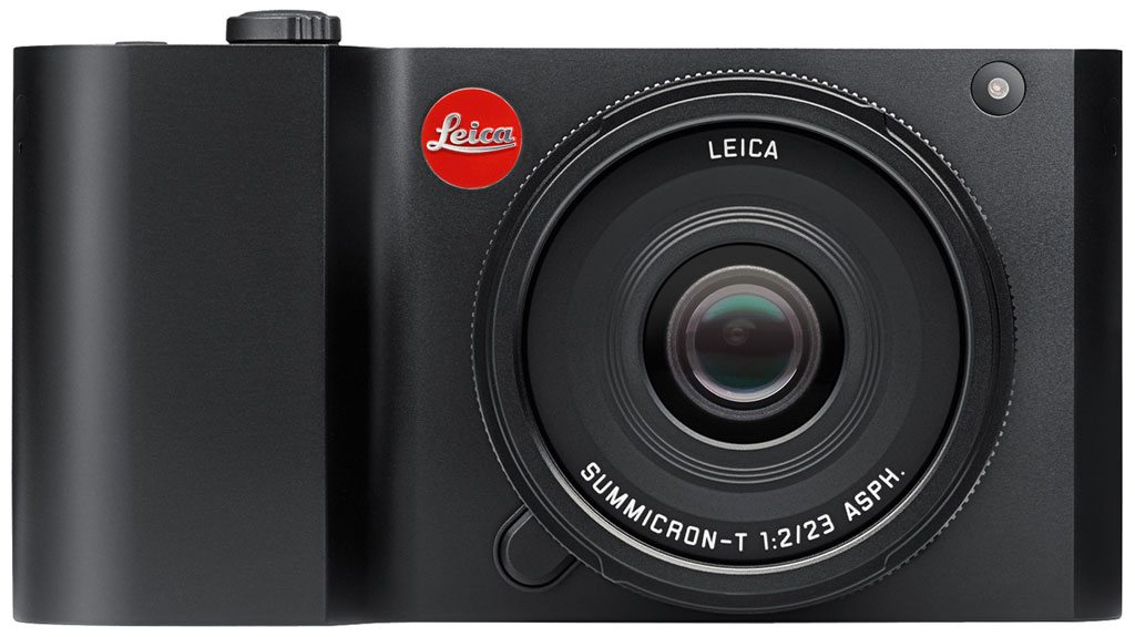 Leica T Review -- Front view in black with 23mm lens
