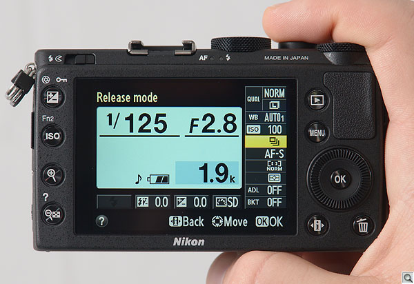 Nikon Coolpix A review -- In hand with display