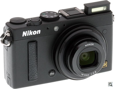 Nikon Coolpix A review -- Three quarter view with flash