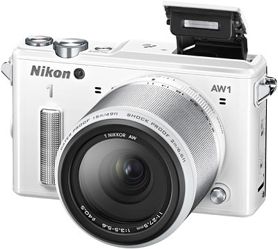 Nikon AW1 Review -- Front quarter view