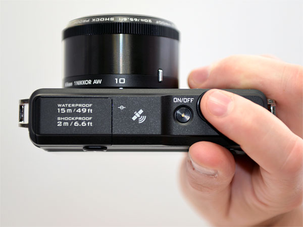 Nikon AW1 Review -- Top view in-hand