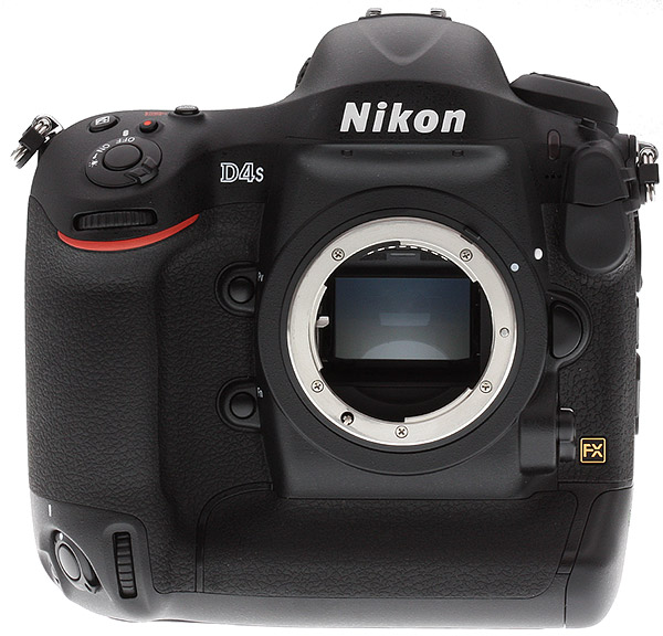 Nikon D4S Review -- Front view without lens