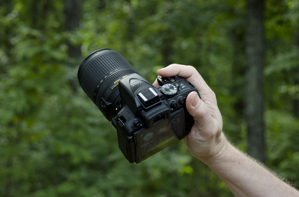 Nikon D5300 Review -- hands-on rear