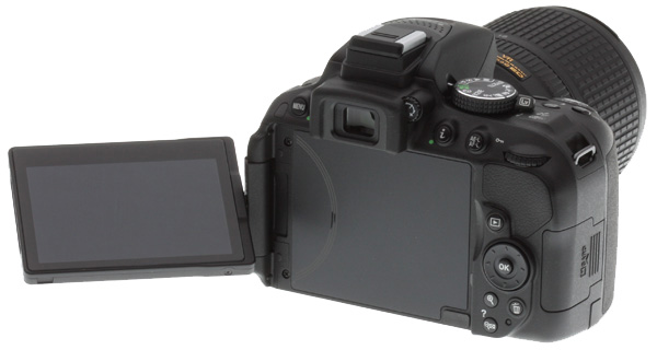 Nikon D5300 -- rear view with LCD extended