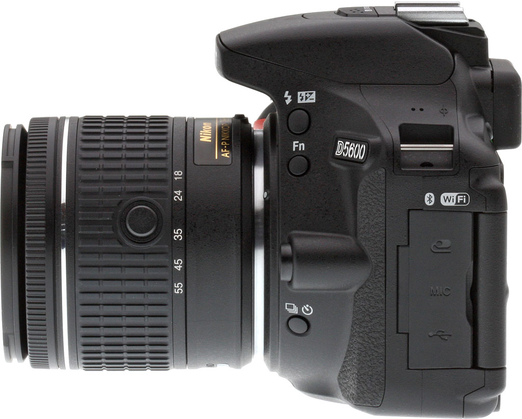 Nikon D5600 Review Being In To Radio Control Since The Mid 70 S Theres No Longer A Remote Icon Next Drive Button And Bluetooth Logo Has Been Added Wi Fi On Cameras Left Side