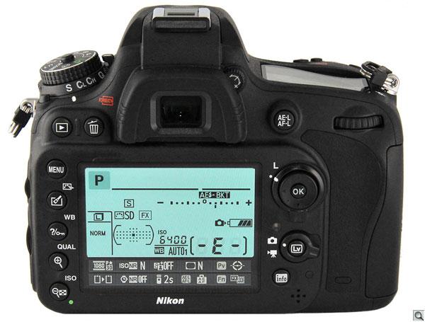 Nikon D600 back