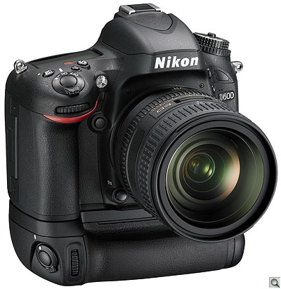 Nikon D600 with optional MB-D14 battery grip