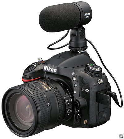 Nikon D600 with optional ME-1 external mic