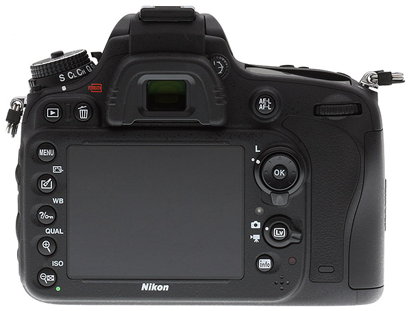 Nikon D610 Review -- Back view