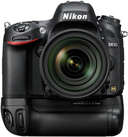 Nikon D610 Review -- D610 with MB-D14 battery grip
