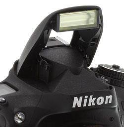 Nikon D610 Review -- Built-in flash