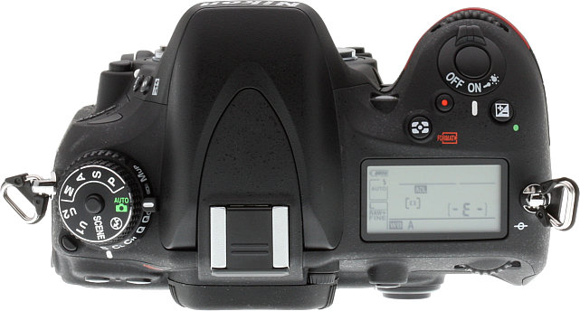 Nikon D610 Review -- top view