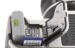 Nikon DF Review -- Battery and card slot