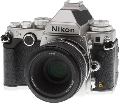 Nikon DF Review -- Front quarter view