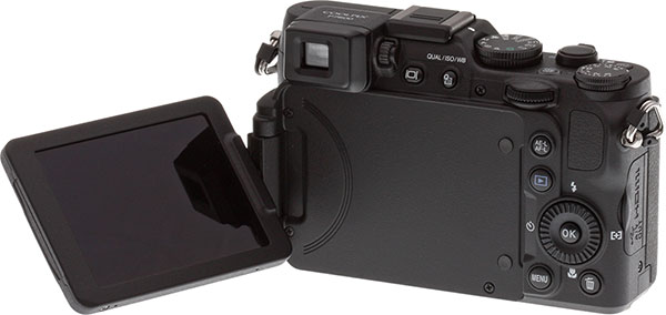 Nikon P7800 Review -- Back view with LCD extended