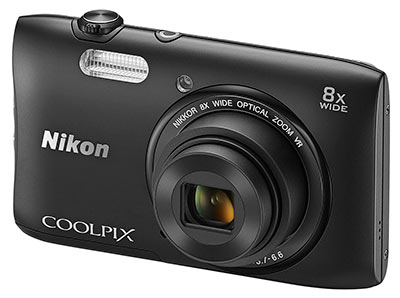 Nikon S3600 review - front quarter view