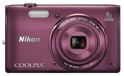 Nikon S5300 review - front view