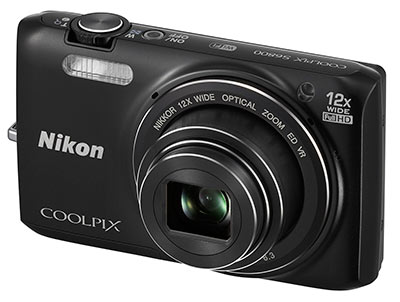 Nikon S6800 review - front quarter view