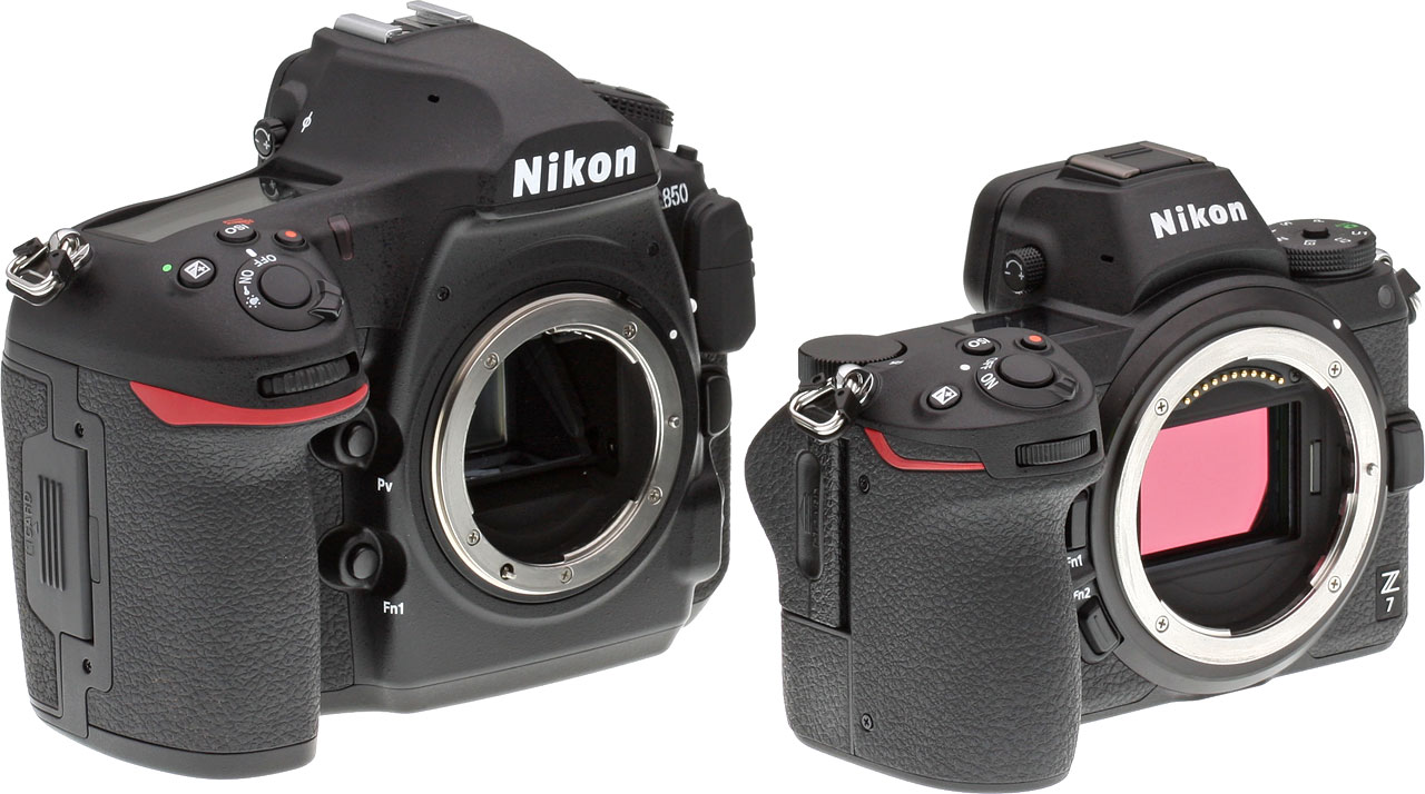 Nikon Z7 Review Parts Diagram Exploded D800 Camera At Left The D850 Dslr Right Compact System Family Resemblance Is Clear