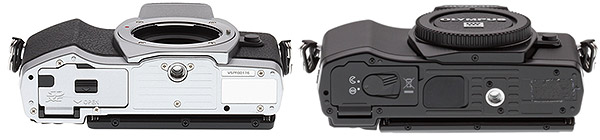 Olympus E-M10 Review - E-M10 vs E-M5 bottom view