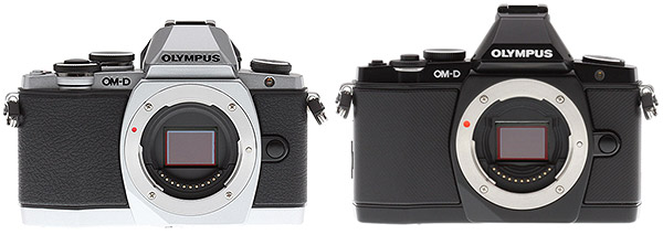 Olympus E-M10 Review - E-M10 vs E-M5 front view