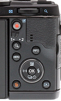 Olympus E-P5 Review - Rear controls