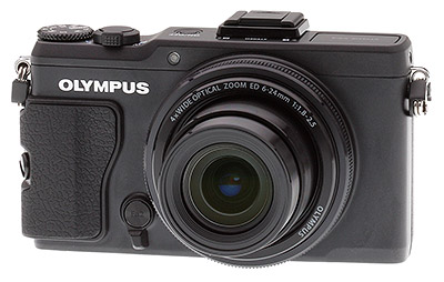 Olympus XZ-2 review: Front quarter view