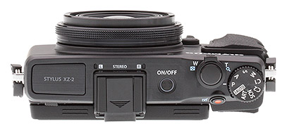 Olympus XZ-2 review: Top view