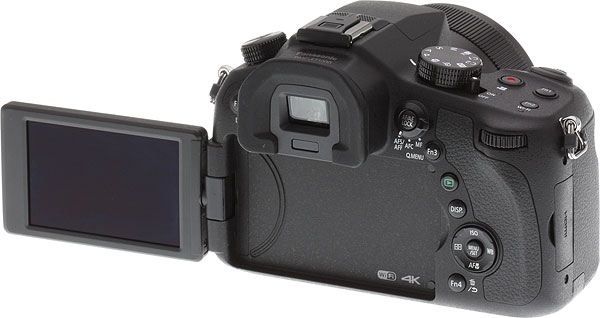 Panasonic FZ1000 Review -- rear view with LCD swung out