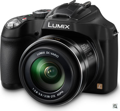Panasonic FZ70 review -- Three quarter view