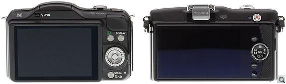 Panasonic GF5 vs EPM1 Back
