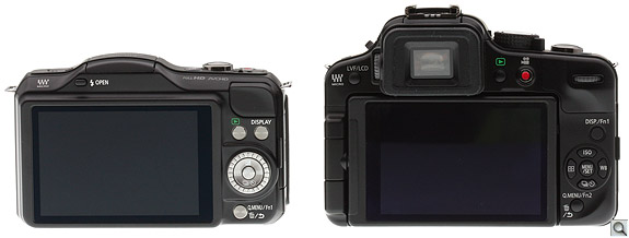 Panasonic GF5 vs G3 Back