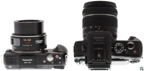 Panasonic GF5 vs G3 Top