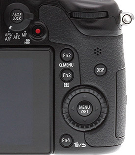 Panasonic GH3 review -- Rear deck controls