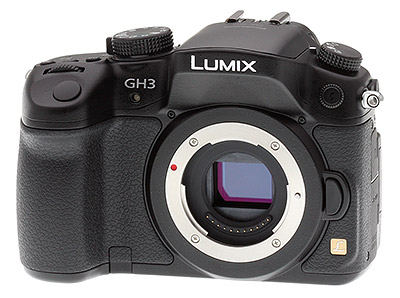 Panasonic GH3 review -- Front quarter view
