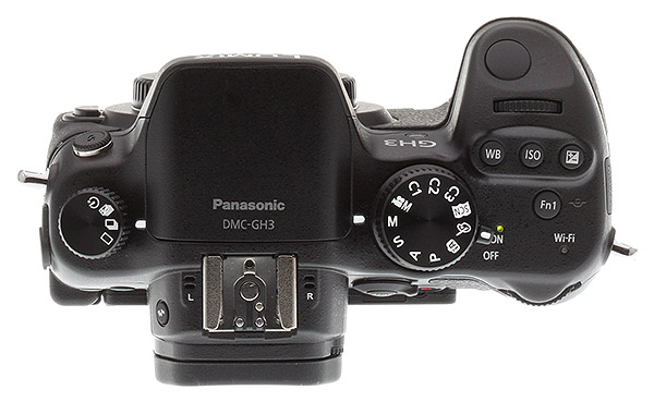 Panasonic GH3 review -- Top view