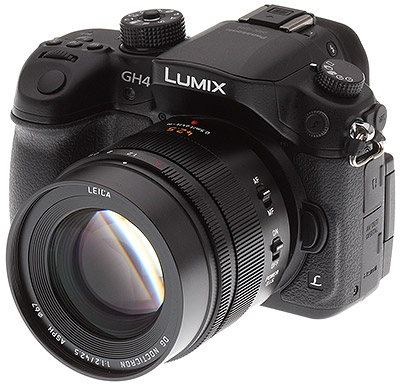 Panasonic GH4 Review -- 3/4 front left view