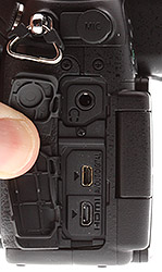 Panasonic GH4 Review -- Ports crop