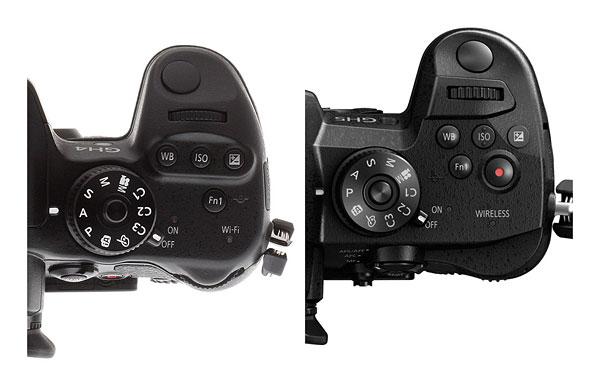 Panasonic GH5 review -- Top-deck comparison against GH4