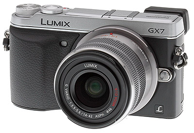 Panasonic GX7 review -- Three quarter view