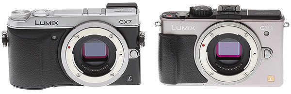 Panasonic GX7 review -- Comparison with GX1