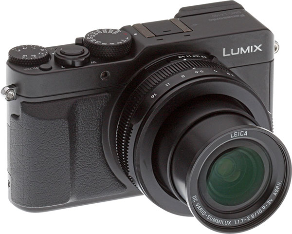 Panasonic LX100 review -- Front right view
