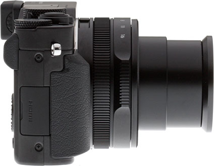 Panasonic LX100 review -- Right view