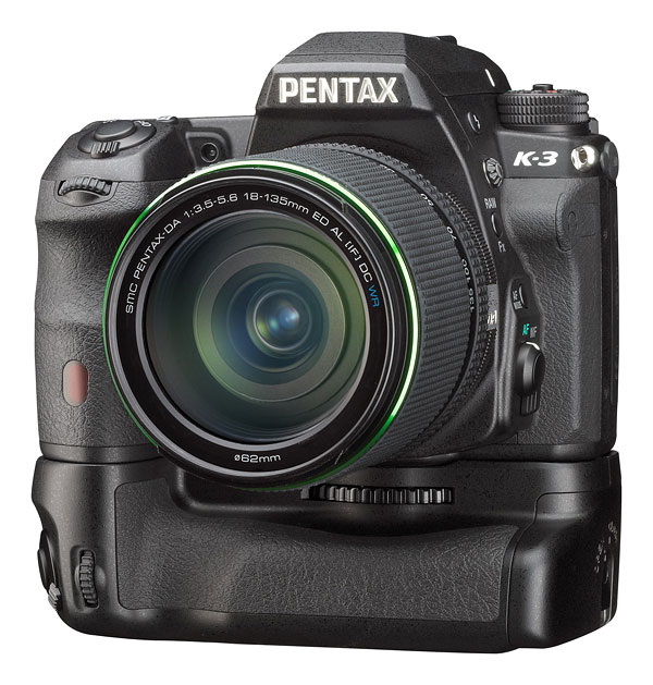Pentax K-3 Review -- Pentax K-3 with battery grip