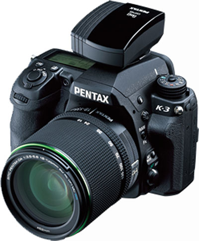 Pentax K-3 Review -- Pentax K-3 with GPS receiver