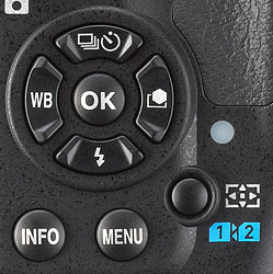 Pentax K-3 Review -- Four-way controller and Focus Point / Card Select button