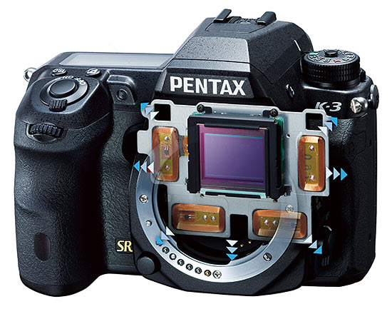 Pentax K-3 review - SR system illustration
