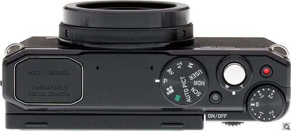 Pentax MX-1 Review --  Top